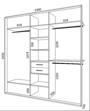 Встроенные шкаф купе своими руками схемы